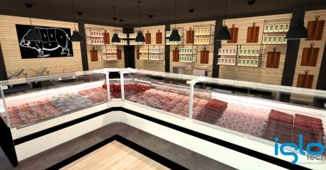 sklep mięsny 3D