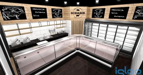 projekt 3D sklep miesny