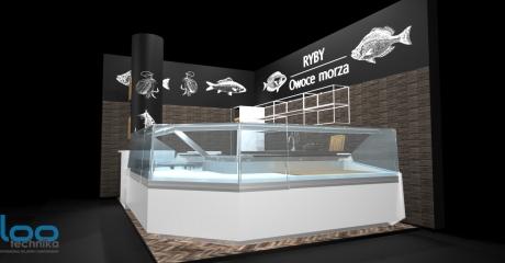 projekt 3D sklep rybny